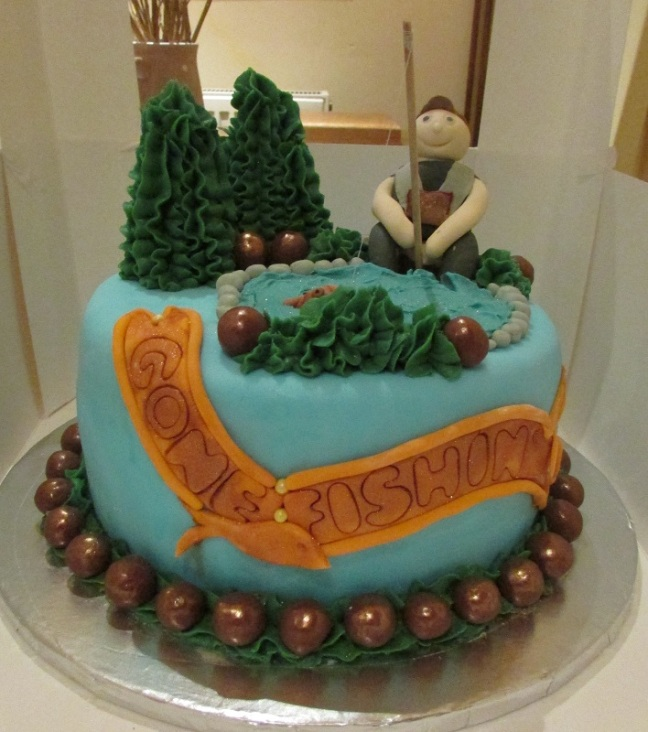 Fabulous 'Gone Fishing' cake made and donated  by Lauren Mills