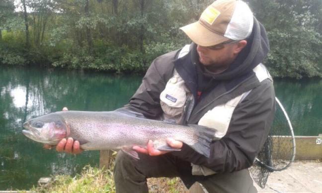 Matt Russell's 6lb 1oz Cwm Hedd rainbow